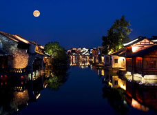 Xishan in Wuzhen at night
