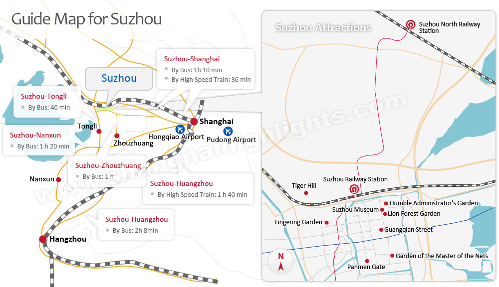 Suzhou Guide Map