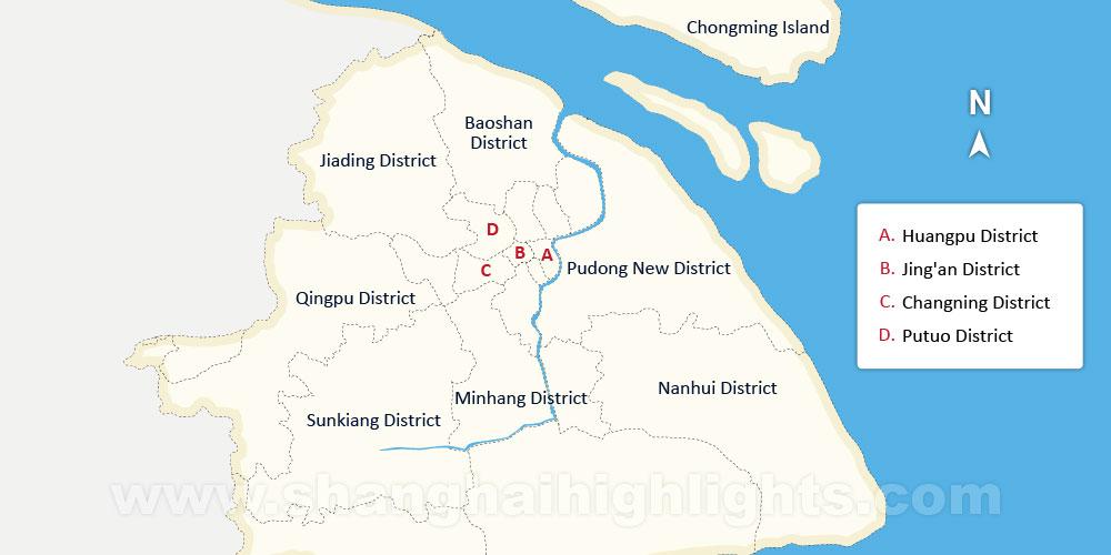 Shanghai Sightseeing And Attractions - Baoshan map