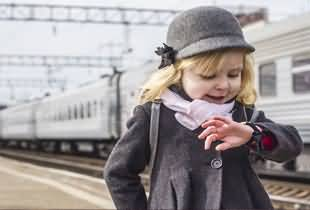 A Girl at the Train Station